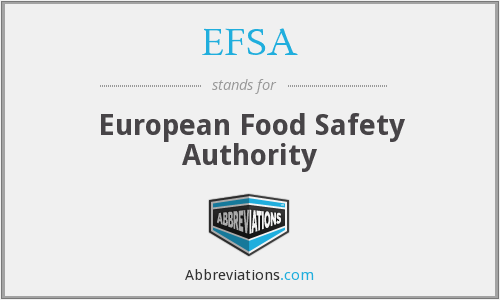 What does EFSA stand for?