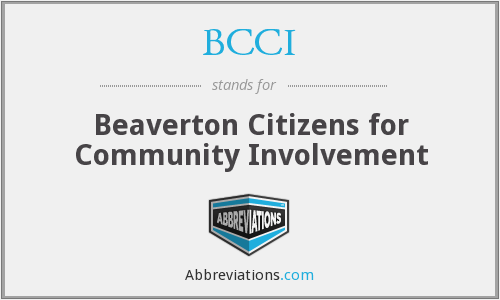 BCCI - Beaverton Citizens for Community Involvement