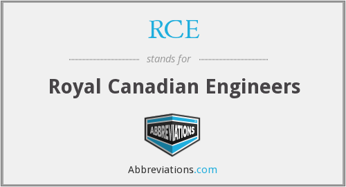 RCE - Royal Canadian Engineers