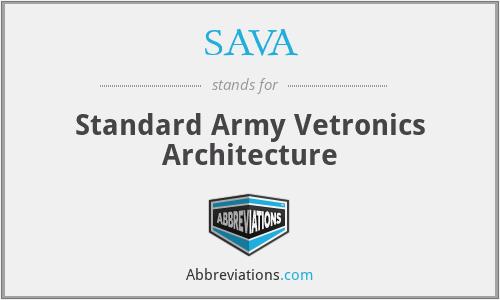 SAVA - Standard Army Vetronics Architecture