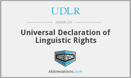 What does UDLR stand for?