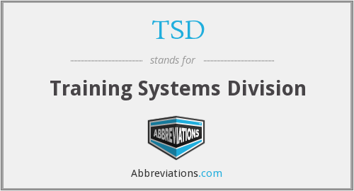 TSD - Training Systems Division