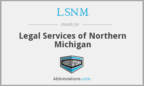 LSNM - Legal Services of Northern Michigan