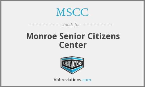 MSCC - Monroe Senior Citizens Center
