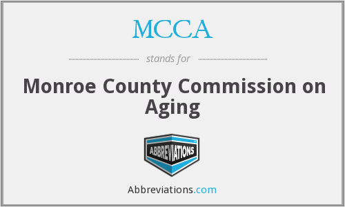 MCCA - Monroe County Commission on Aging