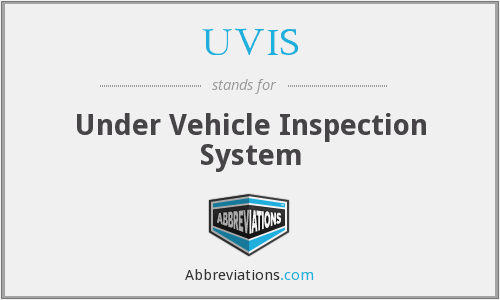 UVIS - Under Vehicle Inspection System