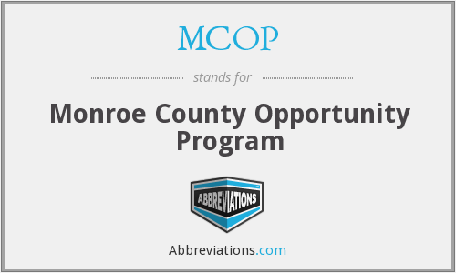 MCOP - Monroe County Opportunity Program