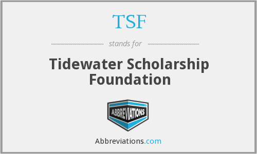 TSF - Tidewater Scholarship Foundation