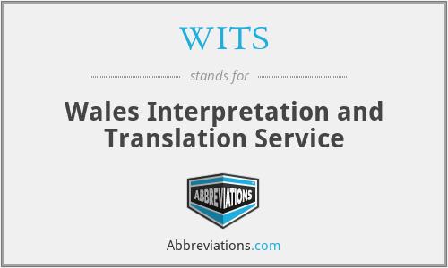 WITS - Wales Interpretation and Translation Service
