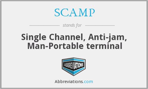 SCAMP - Single Channel, Anti-Jam, Man Portable terminal