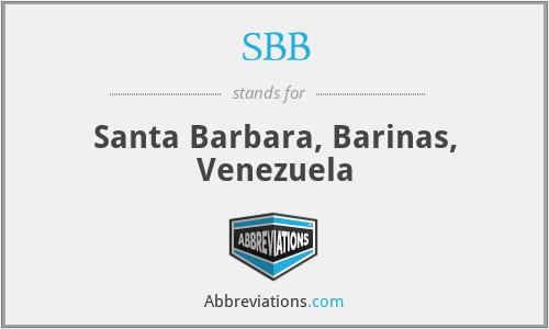 SBB - Santa Barbara, Barinas, Venezuela