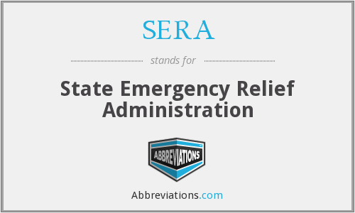 SERA - State Emergency Relief Administration