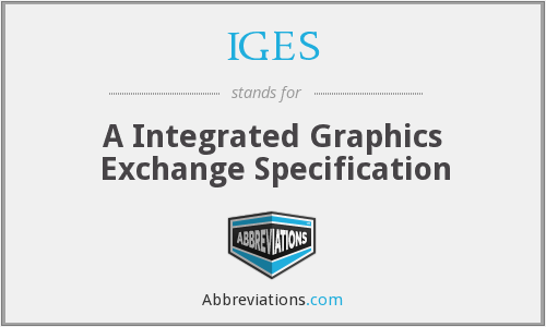 IGES - A Integrated Graphics Exchange Specification
