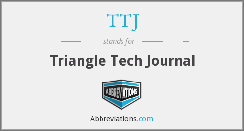 TTJ - Triangle Tech Journal