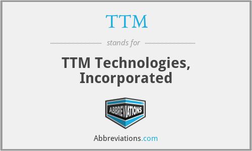 TTM - T T M Technologies, Inc.