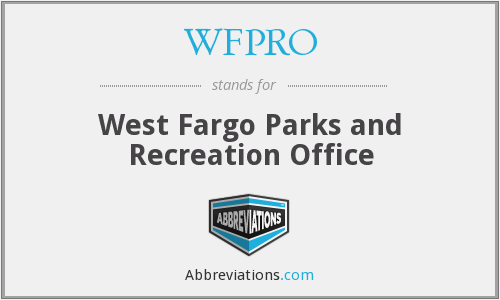 WFPRO - West Fargo Parks and Recreation Office