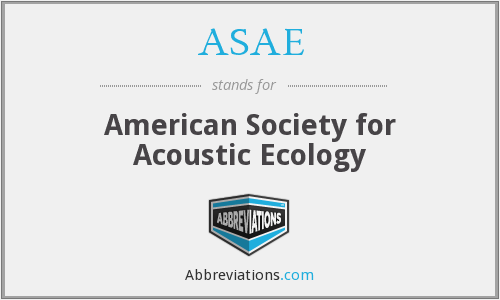 ASAE - American Society for Acoustic Ecology