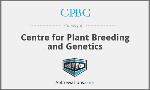 CPBG - Centre for Plant Breeding and Genetics
