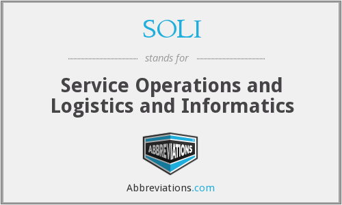 What does SOLI stand for?