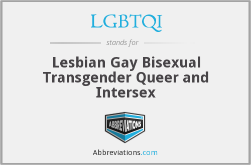 What does LGBTQI stand for?
