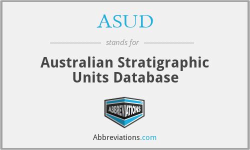 ASUD - Australian Stratigraphic Units Database