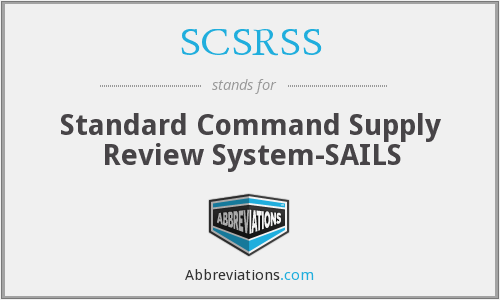 What does SCSRSS stand for?