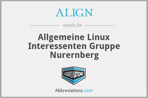 ALIGN - Allgemeine Linux Interessenten Gruppe Nurernberg