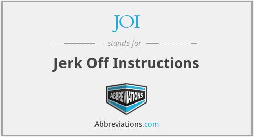 JOI - Jerk Off Instructions