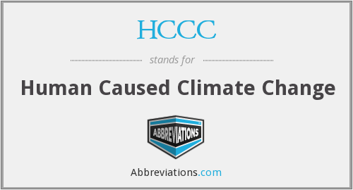 HCCC - Human Caused Climate Change