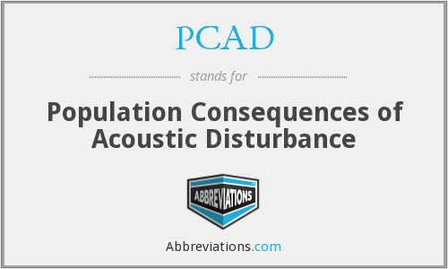 PCAD - Population Consequences of Acoustic Disturbance