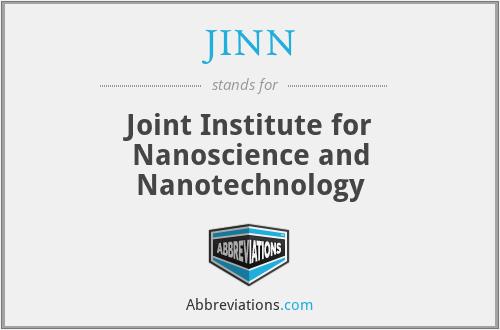 JINN - Joint Institute for Nanoscience and Nanotechnology