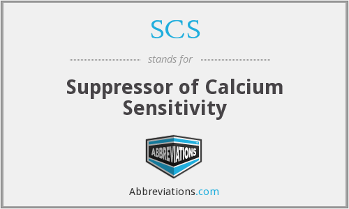 SCS - Suppressor of Calcium Sensitivity