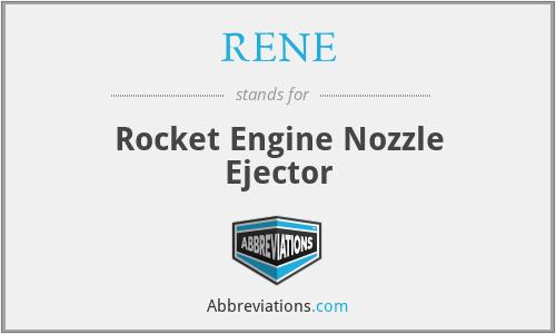 RENE - Rocket Engine Nozzle Ejector
