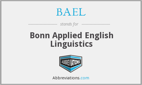 BAEL - Bonn Applied English Linguistics