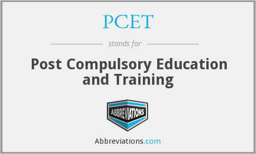 What does PCET stand for?