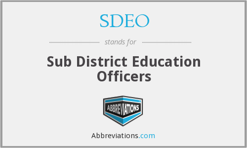 What does SDEO stand for?