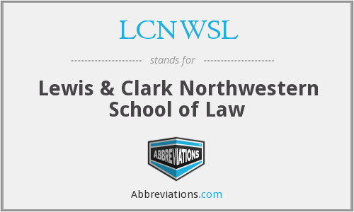 LCNWSL - Lewis & Clark Northwestern School of Law