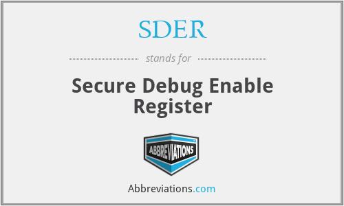 SDER - Secure Debug Enable Register