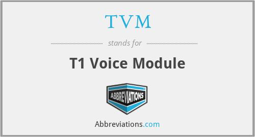 TVM - T1 Voice Module