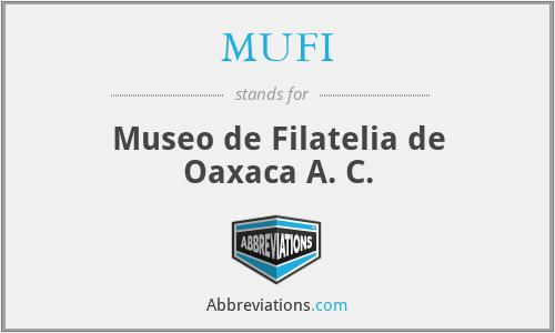 MUFI - Museo de Filatelia de Oaxaca A. C.