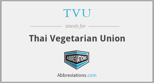 TVU - Thai Vegetarian Union