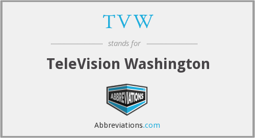 What does TVW stand for?