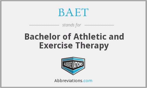 BAET - Bachelor of Athletic and Exercise Therapy