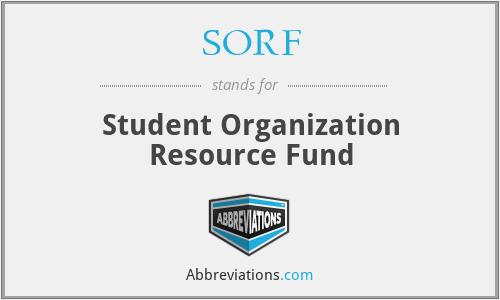 SORF - Student Organization Resource Fund