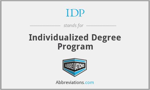 IDP - Individualized Degree Program