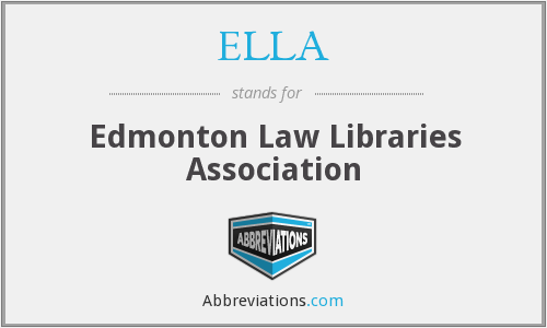 ELLA - Edmonton Law Libraries Association