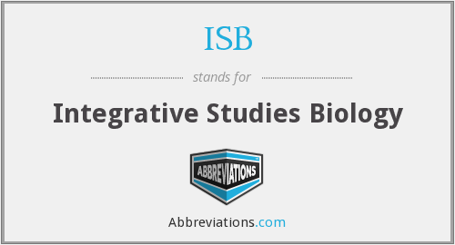 ISB - Integrative Studies Biology
