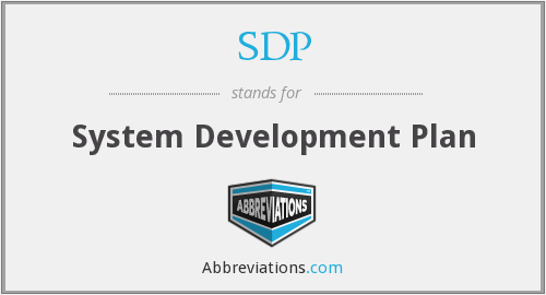SDP - System Development Plan