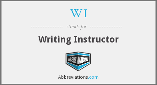 WI - Writing Instructor