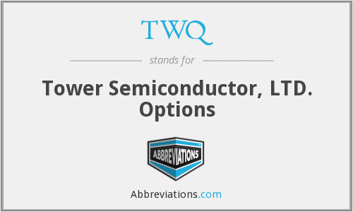 TWQ - Tower Semiconductor, LTD. Options